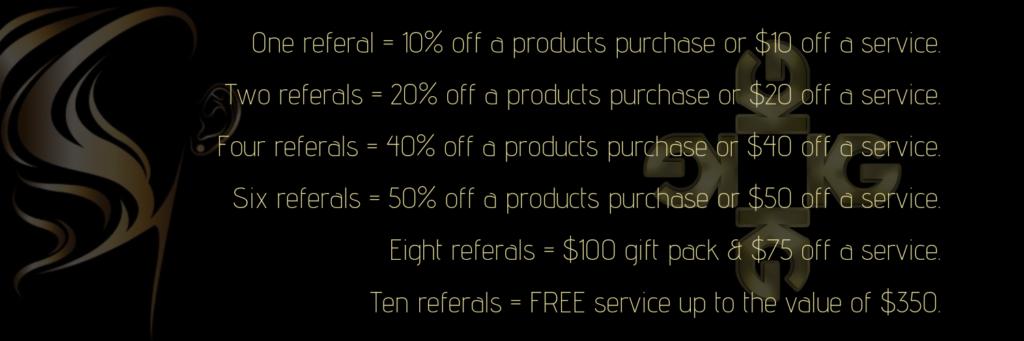 kg hair salon of nanaimo referral reward program